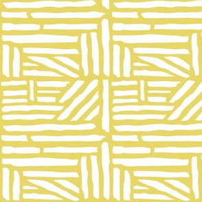 Driftwood - Geometric Citron Yellow