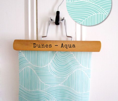 Dunes - Geometric Waves Stripes Aqua
