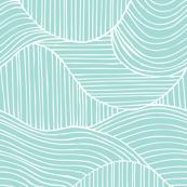 Dunes Geometric Waves Aqua