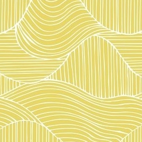 Dunes - Geometric Waves Stripes Citron Yellow