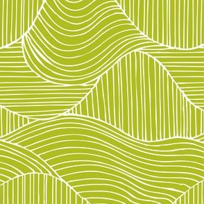 Dunes - Geometric Waves Stripes Green