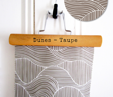Dunes - Geometric Waves Stripes Taupe