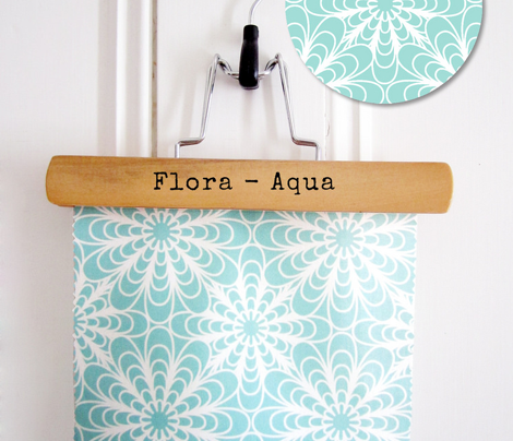 Flora - Geometric Flowers Aqua