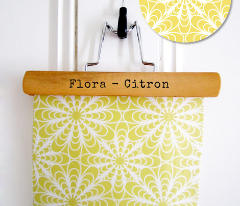 Flora Geometric Flowers Citron Yellow