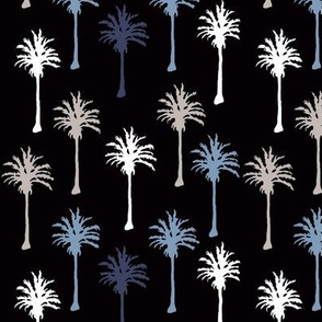 Palm Trees on Black for Dinos