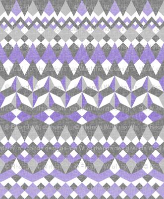 Lavender Fields Across the Valley - Horizontal Stripes