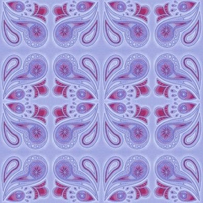 Paisley splash in purple