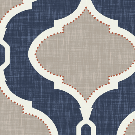 Custom Alessandra Trellis for Danielle fabric by willowlanetextiles on Spoonflower - custom fabric