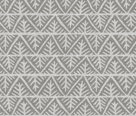 Textured Mudcloth in Gray fabric - willowlanetextiles - Spoonflower