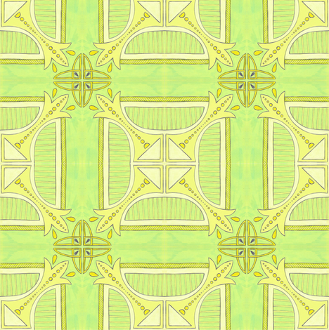 Kitchen kitsch tile fabric by gretchendiehl on Spoonflower - custom fabric