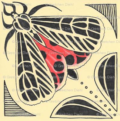 Harnessed tiger moth tile
