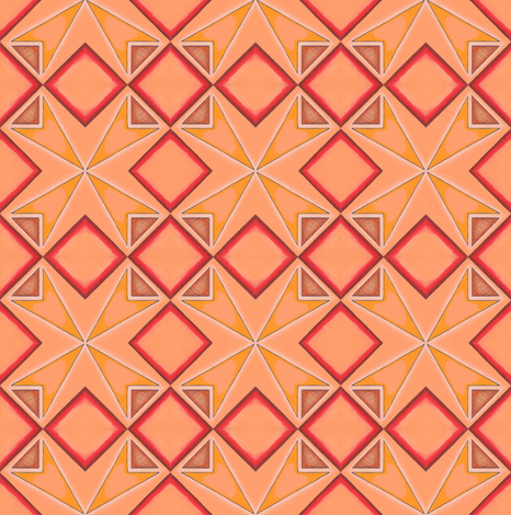 Hot point tribal tile fabric by gretchendiehl on Spoonflower - custom fabric