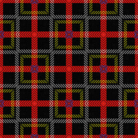Off Kilter ~ Royal Stewart Tartan ~  Rod fabric by peacoquettedesigns on Spoonflower - custom fabric