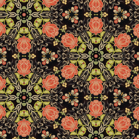 Victorian Embroidery ~ I fabric by peacoquettedesigns on Spoonflower - custom fabric