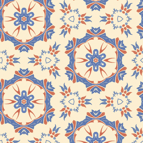Sweet Cream ~ I fabric by peacoquettedesigns on Spoonflower - custom fabric