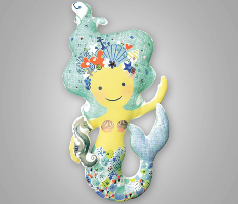 CORA the mermaid plushie pillow