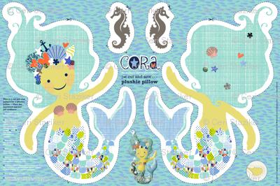 CORA the mermaid plushie pillow