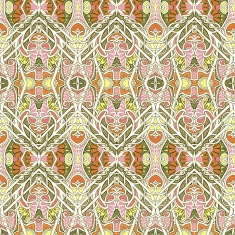 My Heart Belongs to Deco's Echoes fabric by edsel2084 on Spoonflower - custom fabric