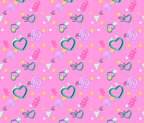 80s or 90s Confetti Print with Shadows fabric by magic_circle on Spoonflower - custom fabric