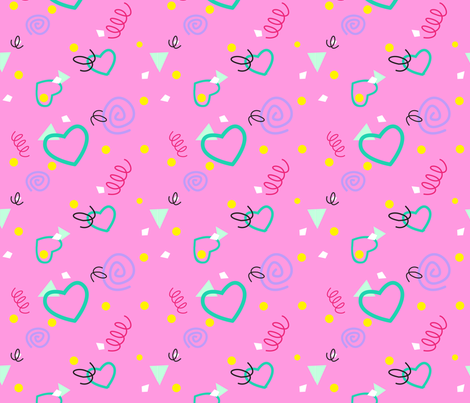 80s or 90s Confetti Print Without Shadow fabric by magic_circle on Spoonflower - custom fabric