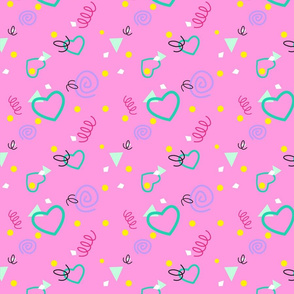 80s or 90s Confetti Print Without Shadow