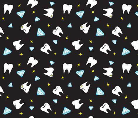 Teeth and Diamonds fabric by magic_circle on Spoonflower - custom fabric