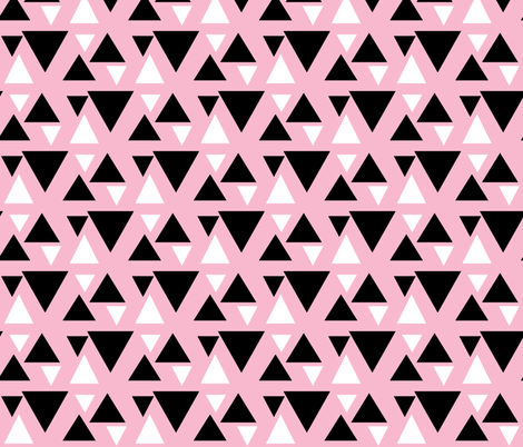 kolmiot / Triangle Pink fabric by mayadesign on Spoonflower - custom fabric