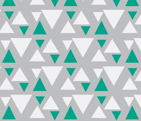 kolmiot_musta_babypink-ch-ch-ch-ch-ch fabric by mayadesign on Spoonflower - custom fabric