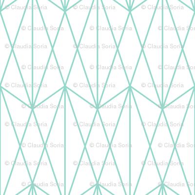 Diamond Grid - Mint