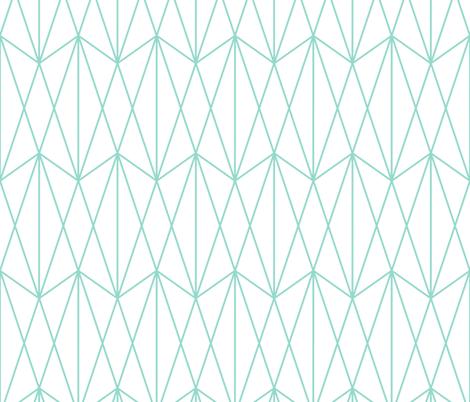 Diamond Grid - Mint fabric by kimsa on Spoonflower - custom fabric
