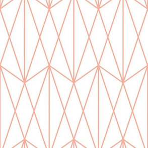 Diamond Grid - Coral white