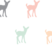 Fawn Repeat // Pink,Grey,Mint,Peach