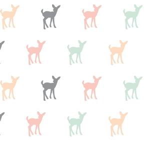 Fawn Repeat // Pink,Grey,Mint,Peach
