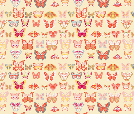 fly_buterfly_jaune_M fabric by nadja_petremand on Spoonflower - custom fabric