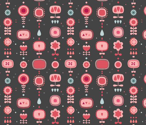 fleurs_scandi1 fabric by la_fabriken on Spoonflower - custom fabric