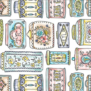 Tea Tins Kitchen Towel - Tea Towel