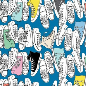 All-Stars* (Blue Liz) || sneakers tennis shoes fashion sports converse geek chic punk emo 80s