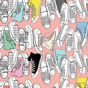 All-Stars* (Mona Lisa) || sneakers tennis shoes fashion sports converse geek chic punk emo 80s