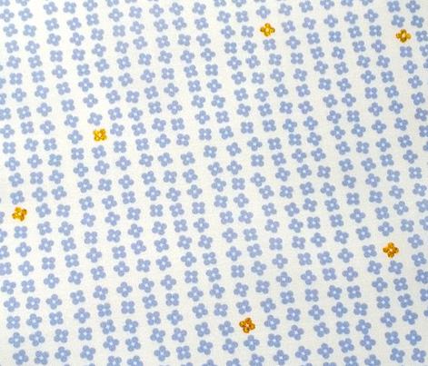 Pixie Garden* (Television Blue) || flowers stripes glitter garden rows sparkle pastel children girls doll
