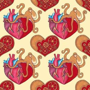 Steampunk Valentine with Octopus