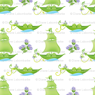 Sweetpea Babies In Boats Purple