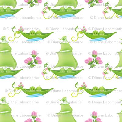 Sweetpea Babies In Boats Pink