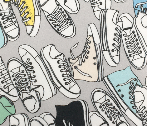 All-Stars* (Silkscreen) || sneakers tennis shoes fashion sports geek chic punk emo 80s