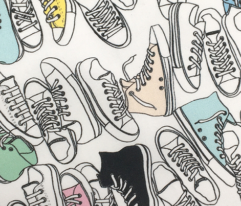 All-Stars* ('80s Pastels) || sneakers tennis shoes fashion sports converse geek chic punk emo 80s