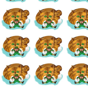 Leprechaun_Trapped_by_Kitten_Paws_-_Spoonflower