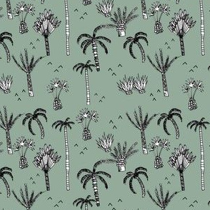 palm tree jungle green - elvelyckan
