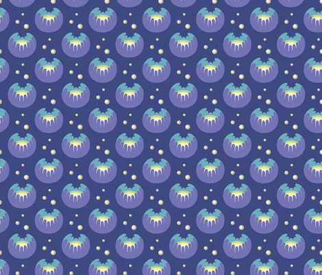 Glowing flowers fabric by petitspixels on Spoonflower - custom fabric