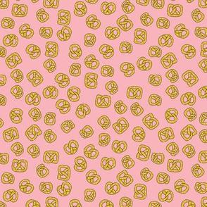 pretzels on pink