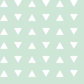 triangles // mint - Woodland Collection