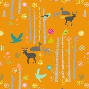 Woodland Deer Orange